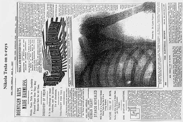 Nikola Tesla X-Ray article on New York Herald 1897